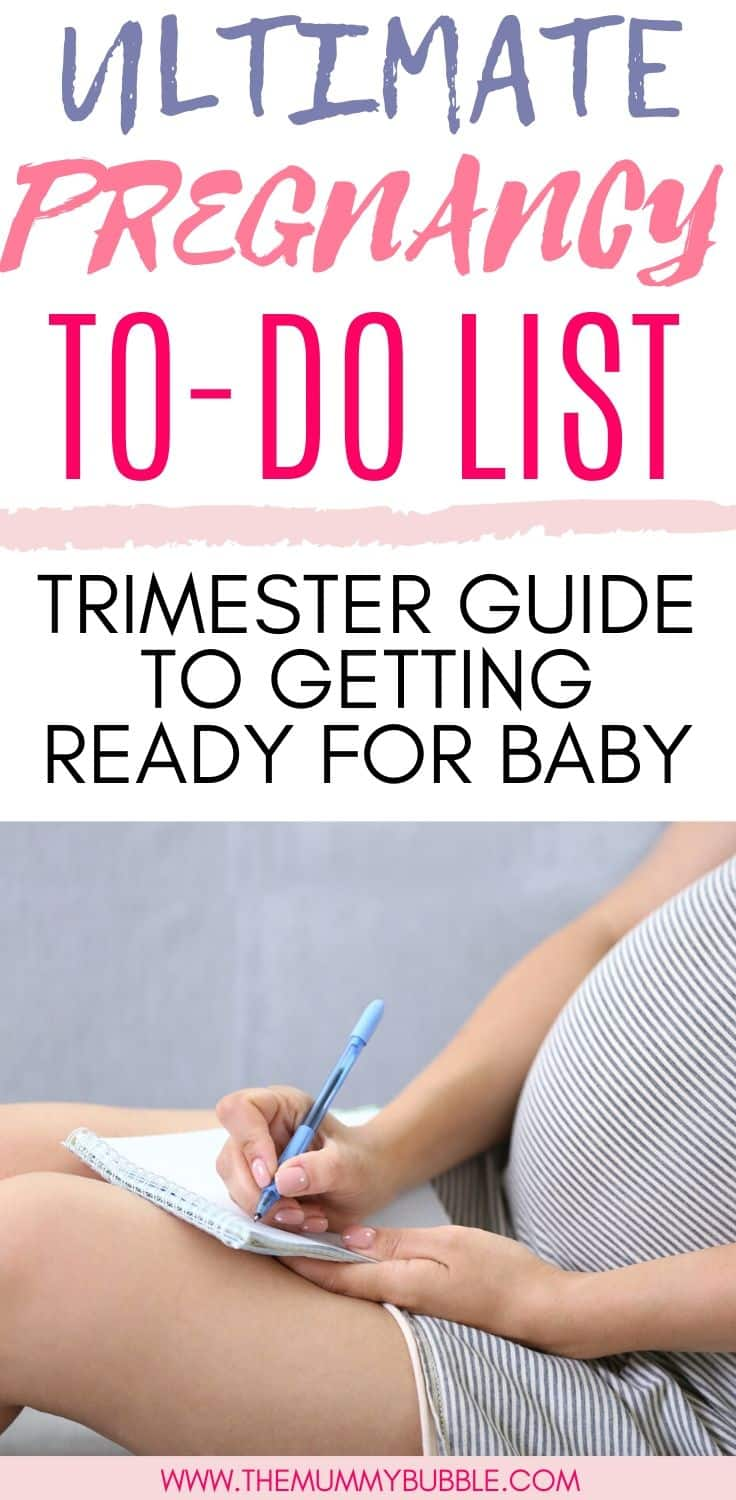 Ultimate pregnancy to-do list - trimester guide to getting ready for your baby