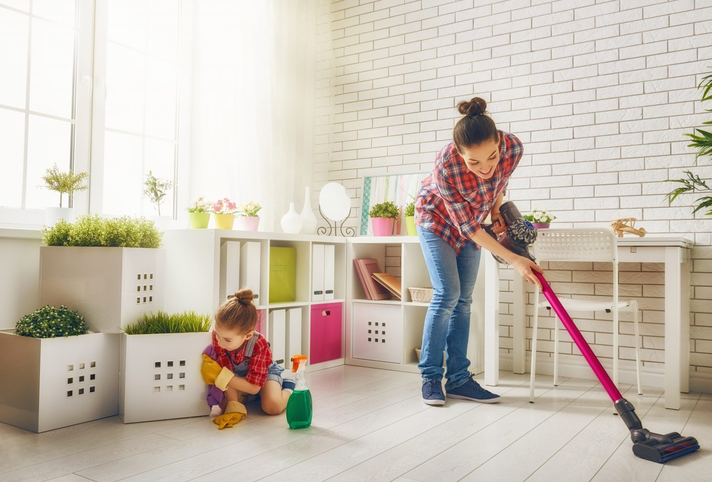 SAHM cleaning routine