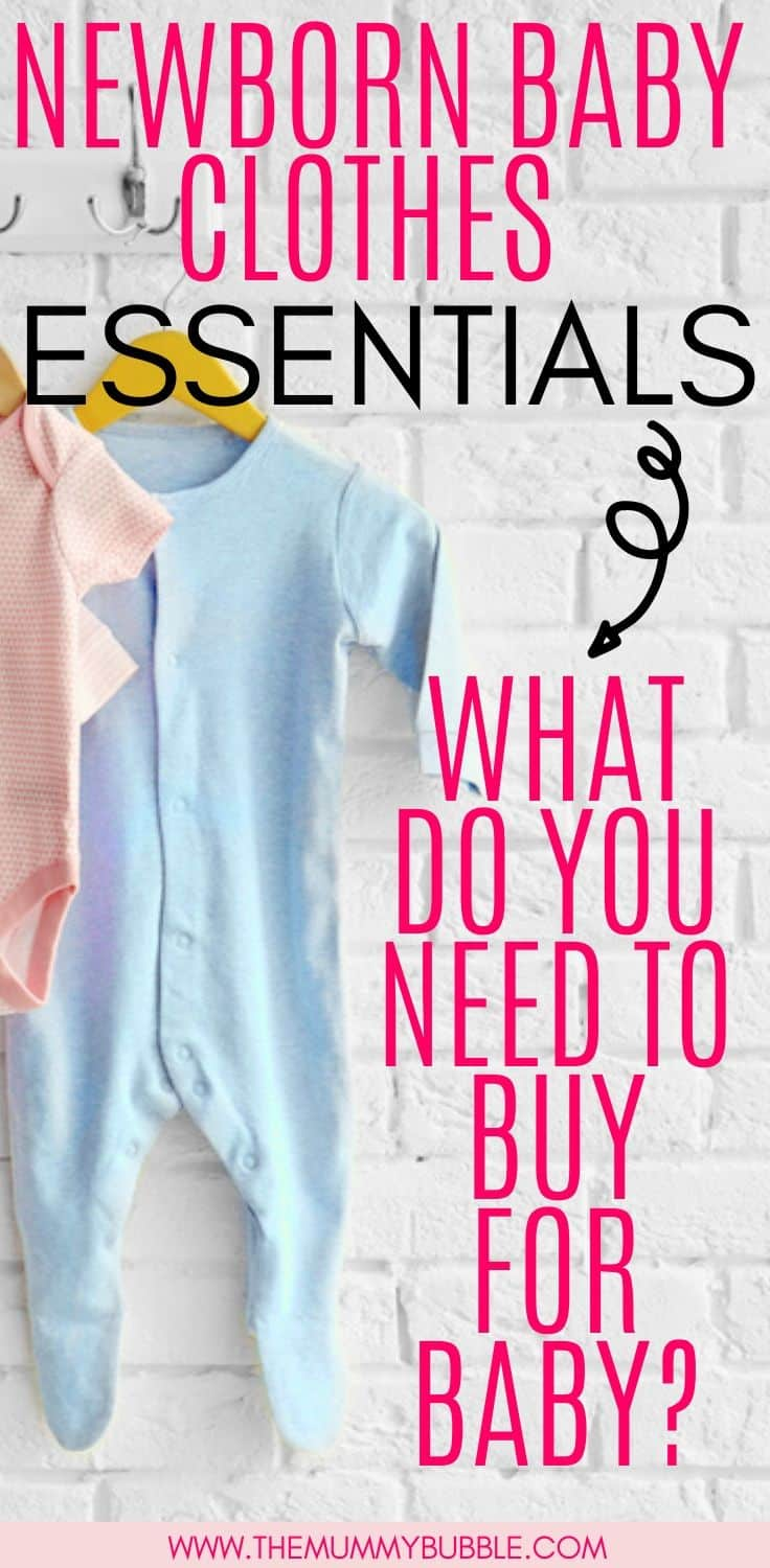 What clothes do you need to buy for a baby - newborn baby clothes essentials