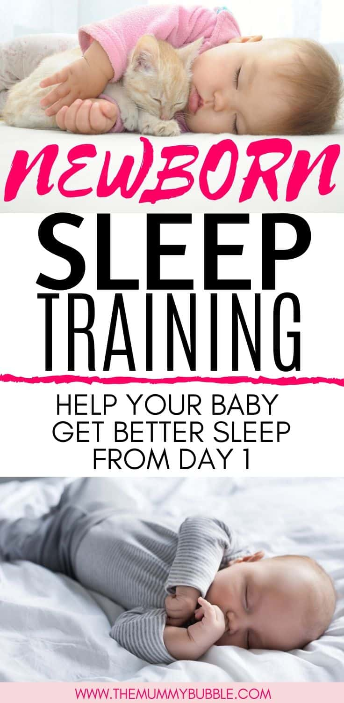 Newborn baby sleep training tips to help baby sleep without being held
