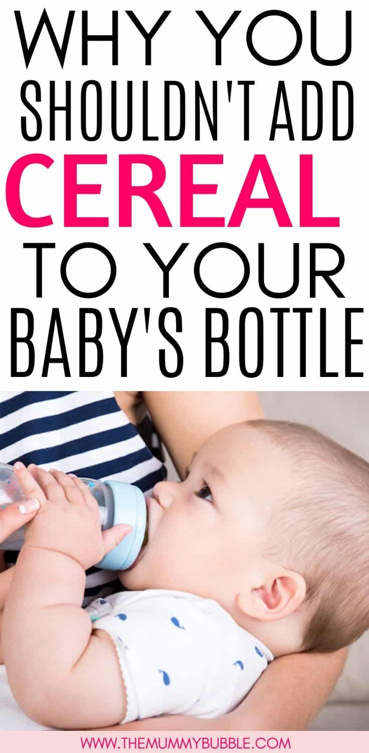 Adding cereal to your baby's bottle to get them sleeping for longer