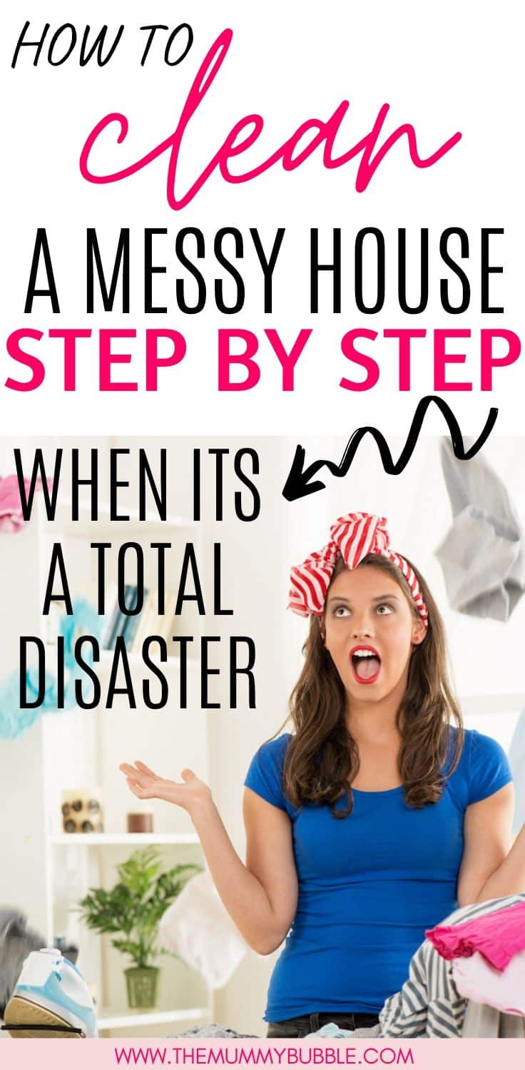 How to clean a messy house step by step
