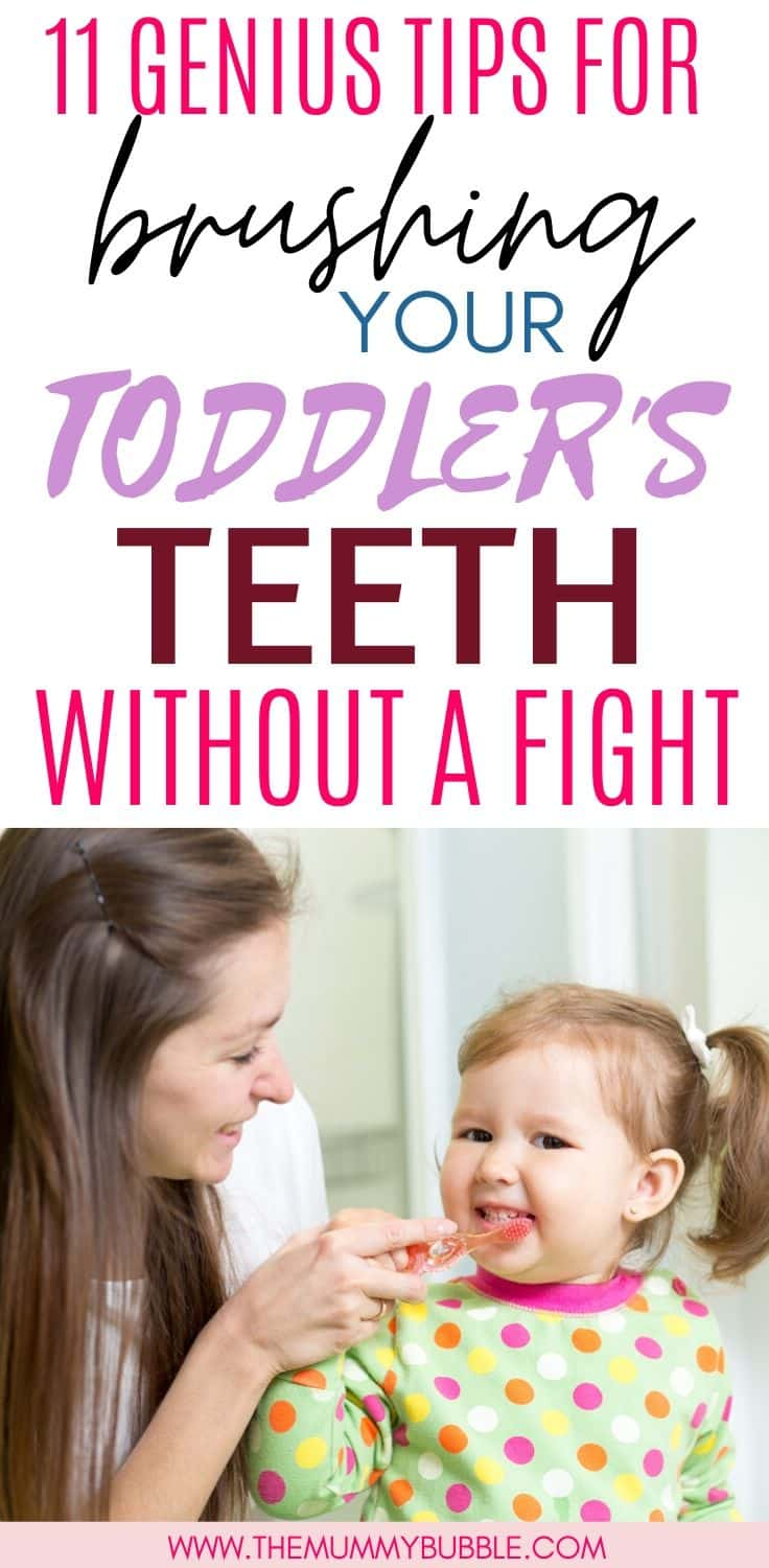 Genius tips for brushing your toddler's teeth without a fight