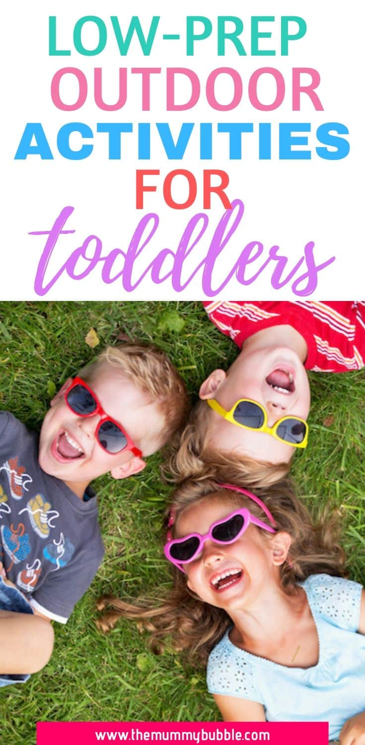Low prep outdoor activities for toddlers
