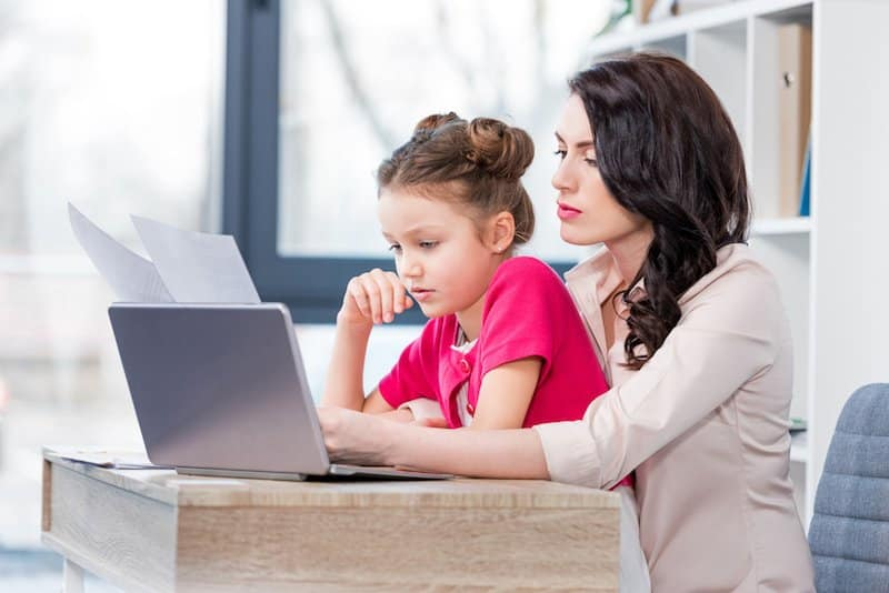 How to work from home with children