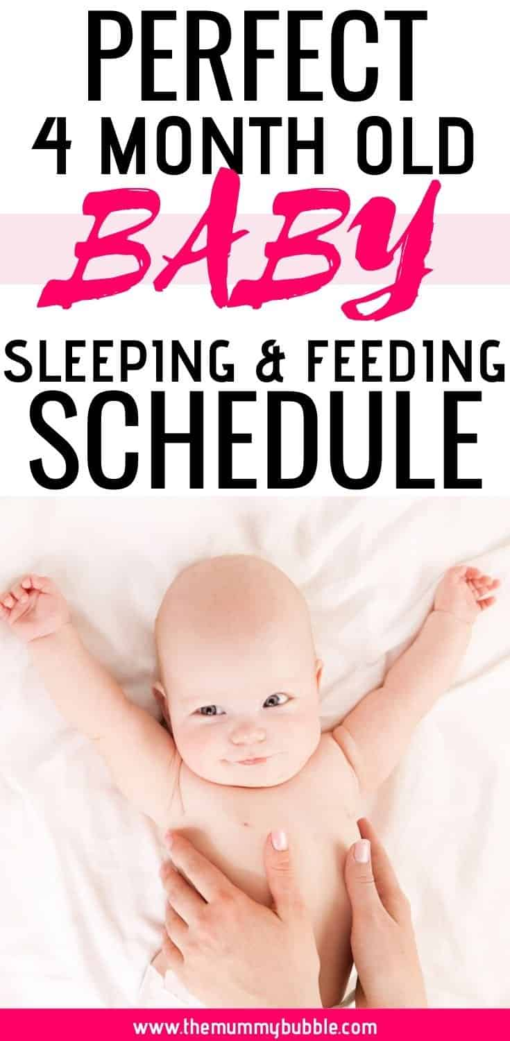 Perfect 4 month old baby sleeping and feeding schedule