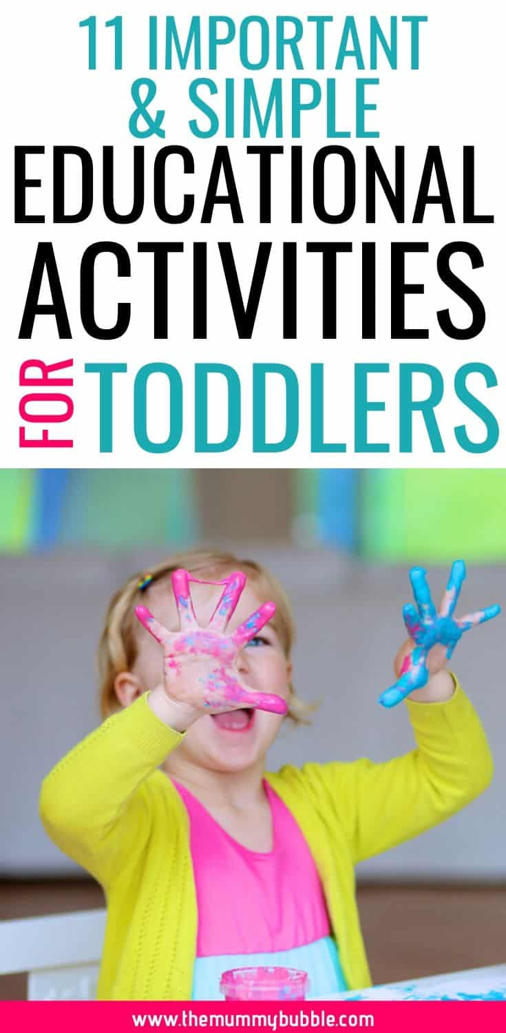 Important and simple educational activities for toddlers