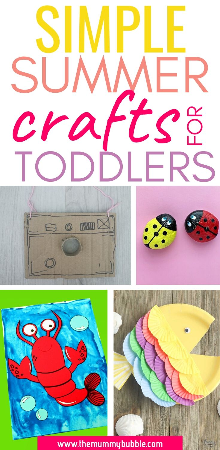 Simple summer crafts for toddlers and preschoolers